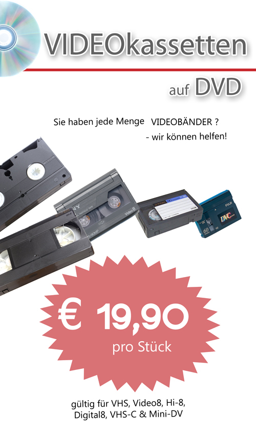 Video auf DVD Aktion