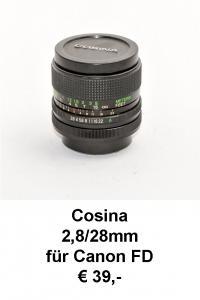 Cosina 28mm Canon FD