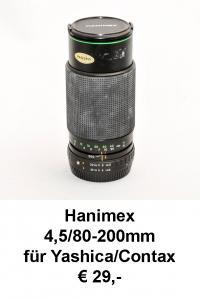 Hanimex 80-200 Yashica Contax